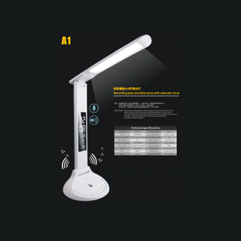 A1-Recording Play LED Eye-protection Table Lamp